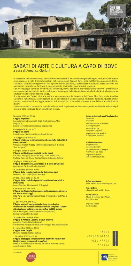 Locandina evento Sbati di Arte e Cultura