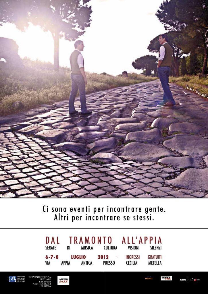 Dal tramonto all'Appia, locandina edizione 2012