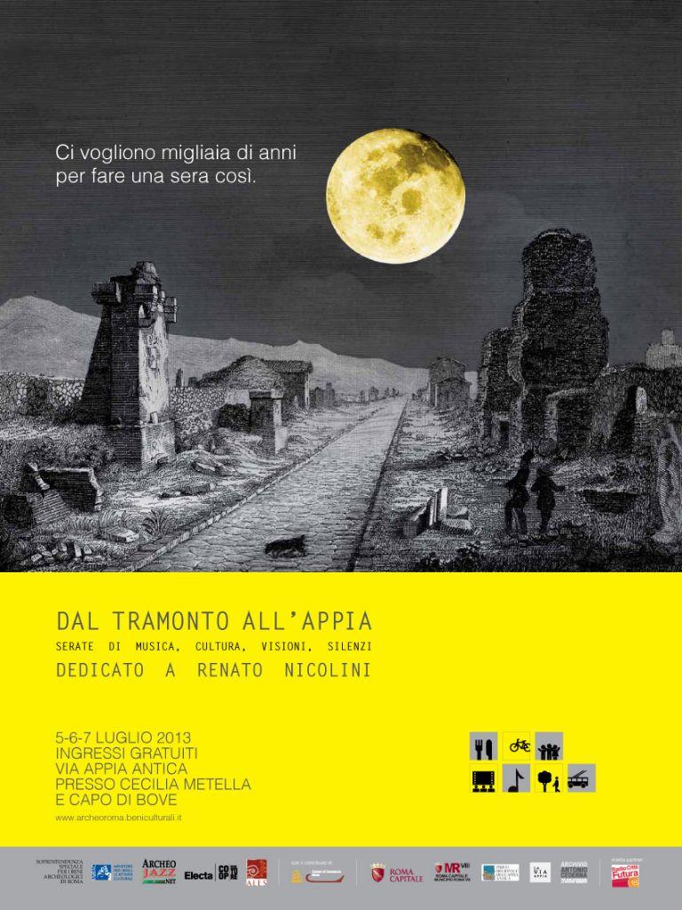 Dal tramonto all'Appia, locandina edizione 2013
