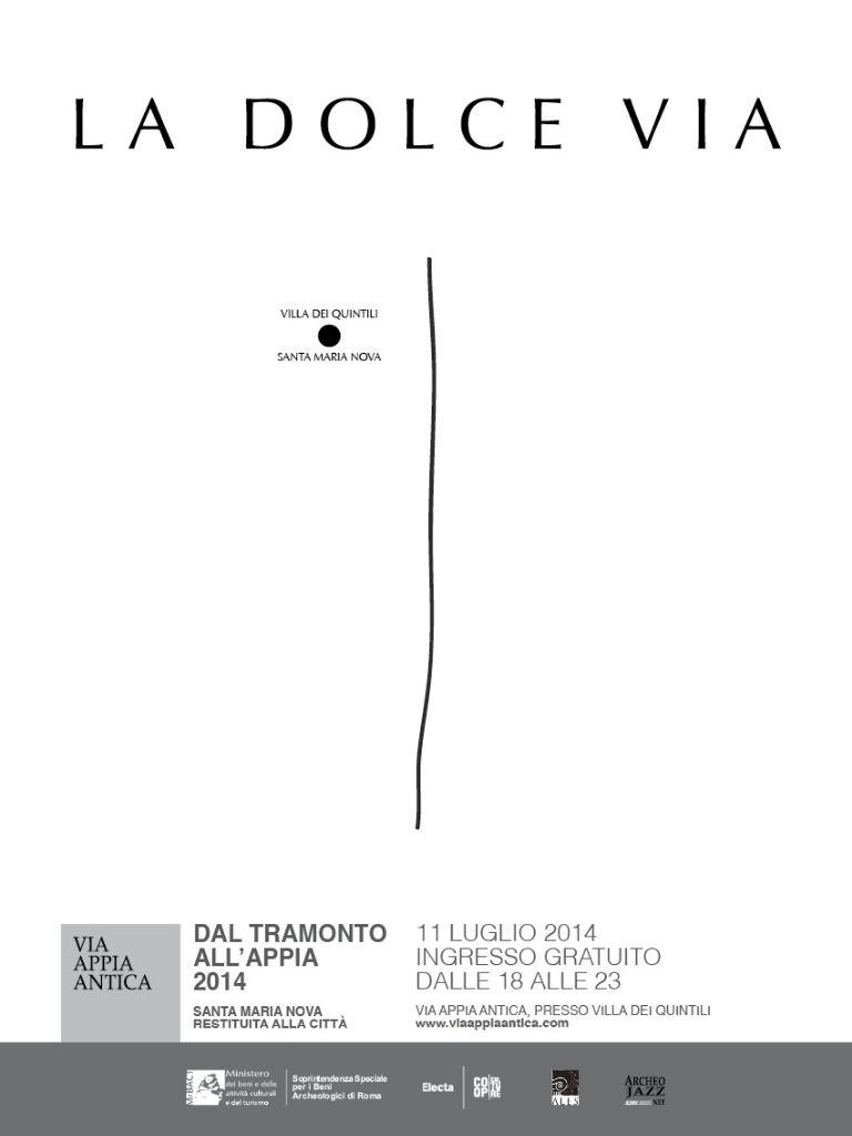 Dal tramonto all'Appia, locandina edizione 2014