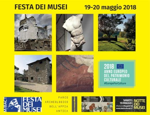Porzione della locandina di Festa dei Musei 2018