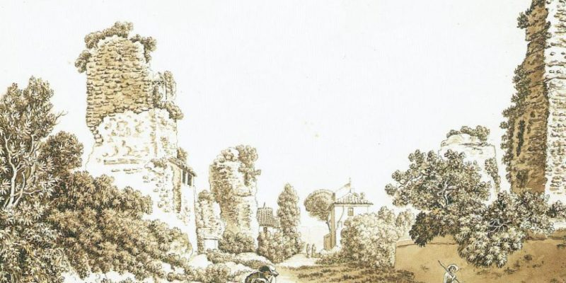 L'Appia Antica in un disegno di Carlo Labruzzi