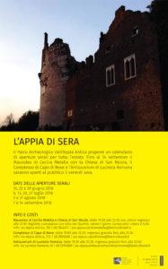"""Locandina """"L'Appia di Sera"""""""