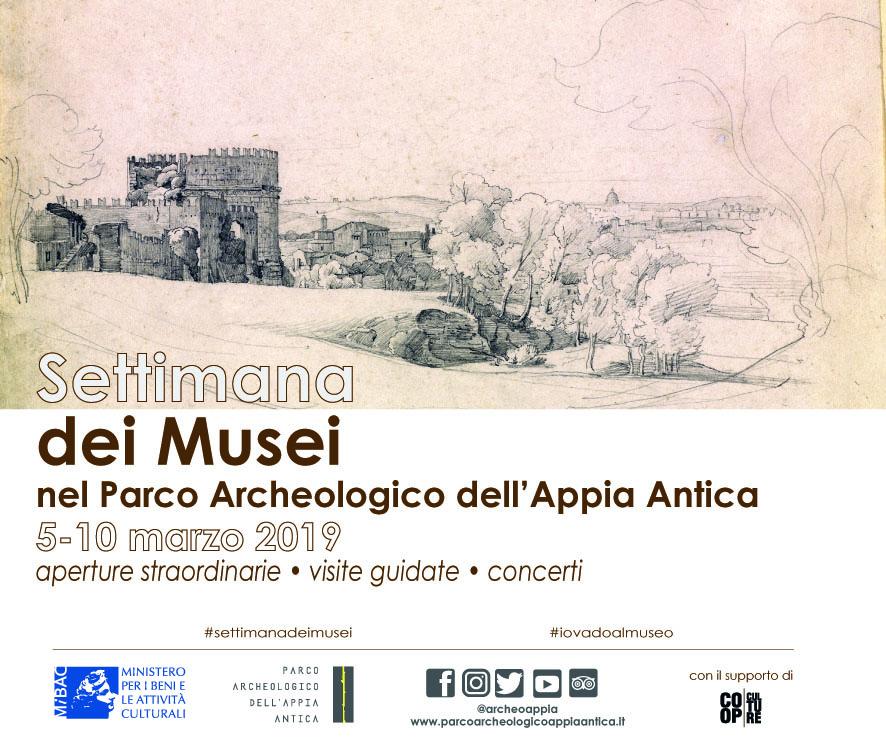 Settimana dei Musei nel Parco Archeologico dell'Appia Antica