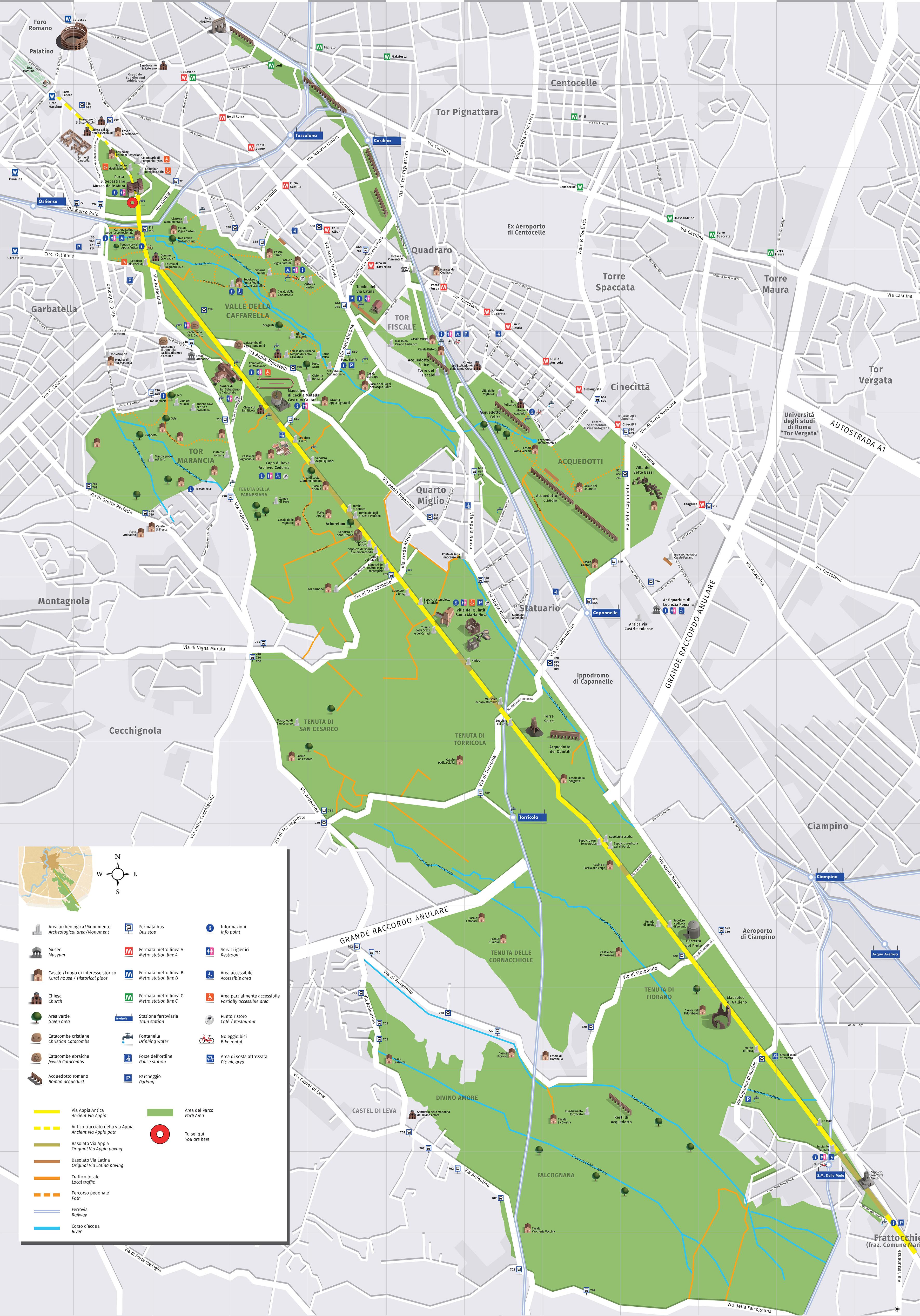 Cartina Antica Roma.Downloads Sito Ufficiale Parco Archeologico Dell Appia Antica